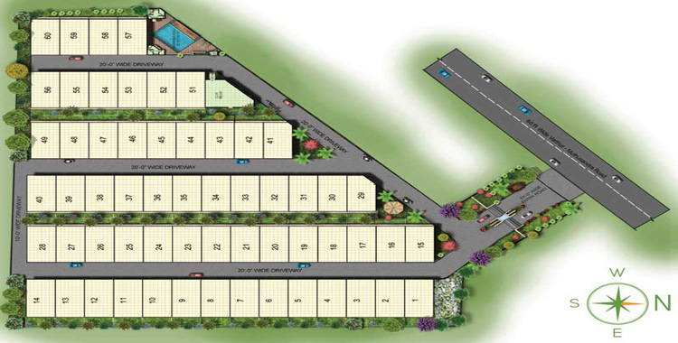 Sparsh Villas Layout, villas in whitefield bangalore for sale